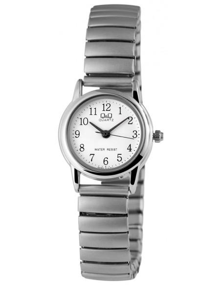Q&Q Ρολόι γυναικείο με ασημί tieback μπρασελέ OPALA D20140323