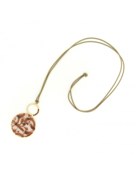 Long Fabric Necklace rose gold VERSALI 3