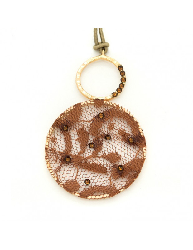 Long Fabric Necklace rose gold VERSALI