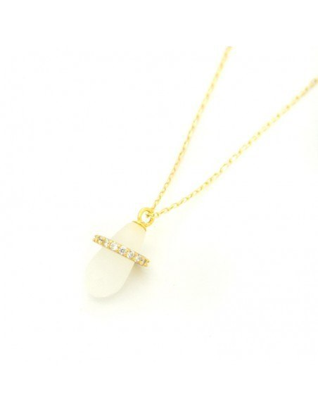 Pacifier Necklace from gold plated sterling silver H20140753