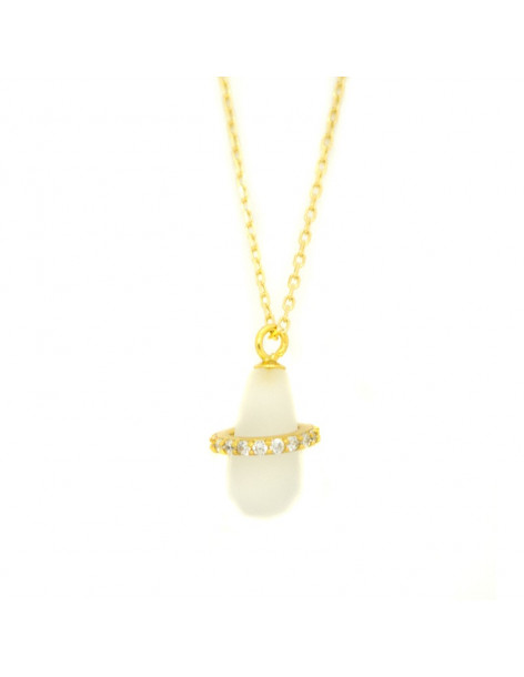 Schnuller Halskette vergoldetem Silber 925 H20140753