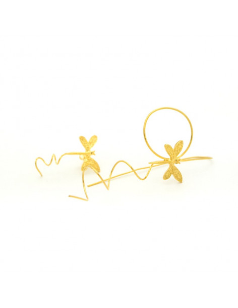 Lange Ohrringe handgefertigt gold ALFADI