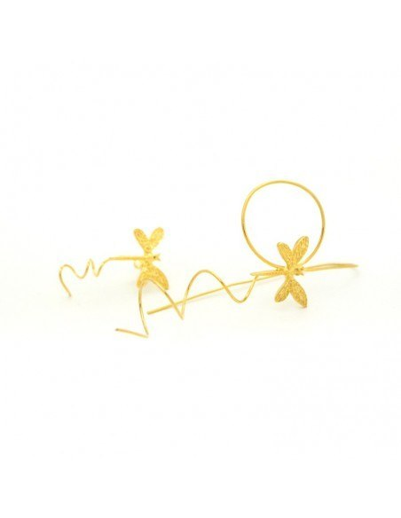 Μακριά σκουλαρίκια χειροποίητο χρυσό ALFADI