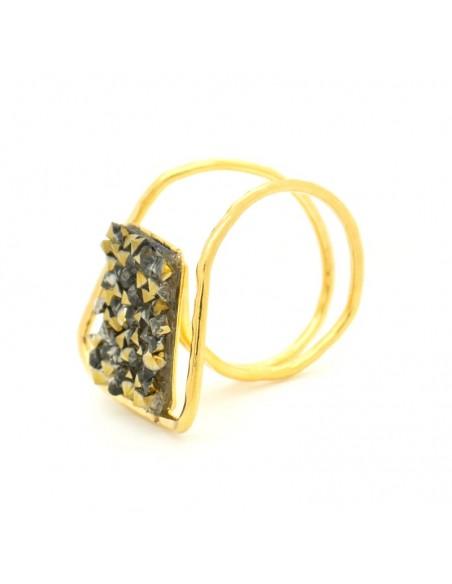 Δαχτυλίδι αρχαιοελληνικό με ζιργκόν χρυσό DIAMANT 3