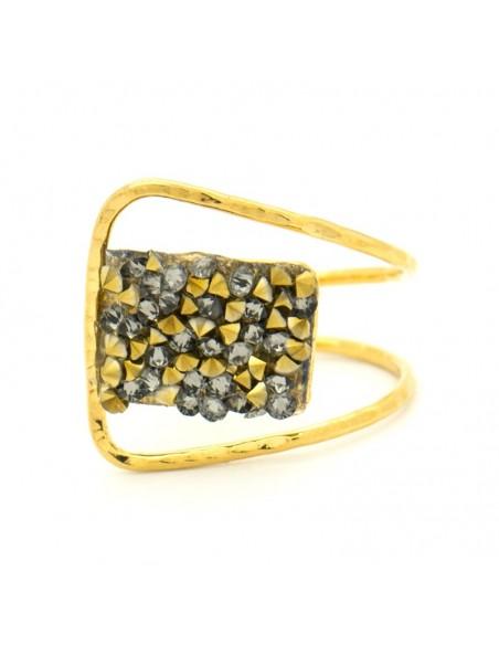 Δαχτυλίδι αρχαιοελληνικό με ζιργκόν χρυσό DIAMANT