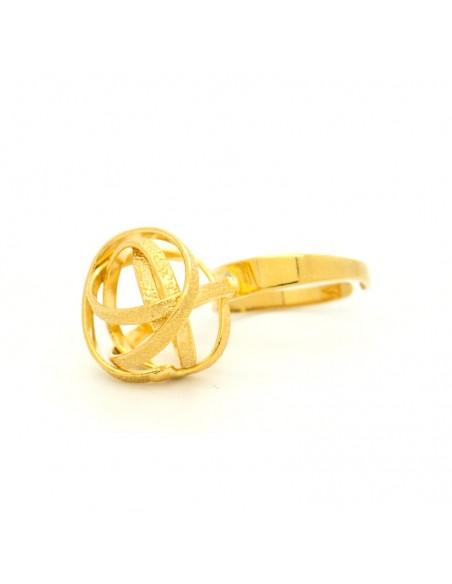 Griechischer Designer Ring aus Bronze gold PLANITI