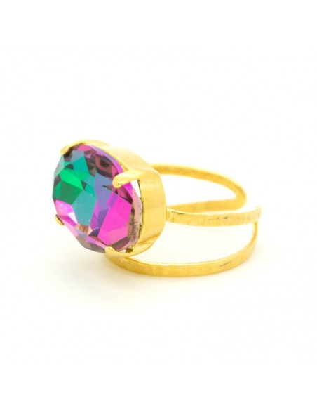 Μεγάλο δαχτυλίδι με ζιργκόν χρυσό AUF 3