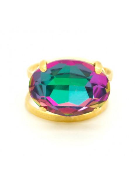 Μεγάλο δαχτυλίδι με ζιργκόν χρυσό AUF