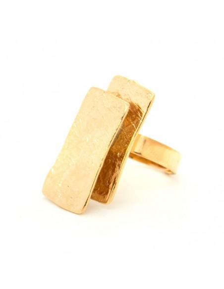 Δαχτυλίδι από ροζ επίχρυσο σφυρήλατο μπρούτζο HUB R20140654