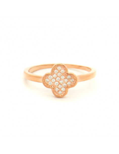 Silverring with crystals rose gold KLEE