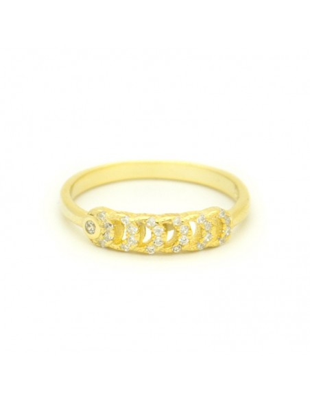 Silverring with crystal gold ONTA