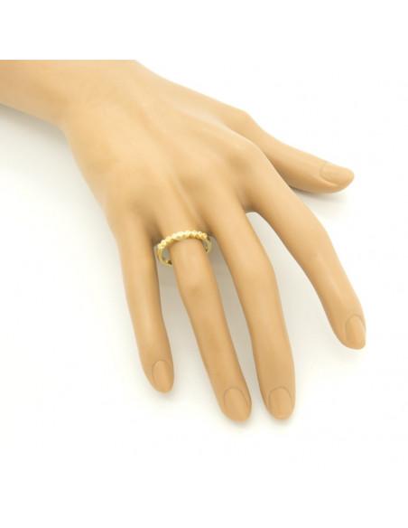 Δαχτυλίδι ασημένιο με λευκά ζιργκόν χρυσό HEIM 2