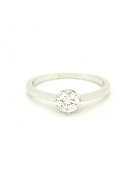 Solitaire ring made of sterling silver with crystal MONO