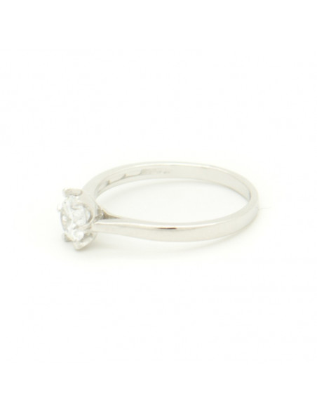Solitaire ring made of sterling silver with crystal LOUI