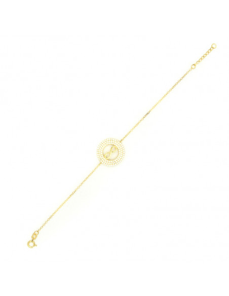 Bracelet Infinity of silver 925 gold plated FRANCOISE 3