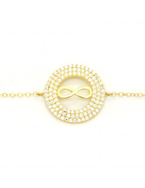 Bracelet Infinity of silver 925 gold plated FRANCOISE