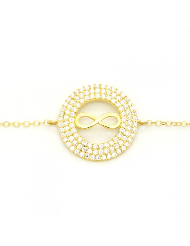 Armband Infinity aus Silber 925 gold FRANCOISE