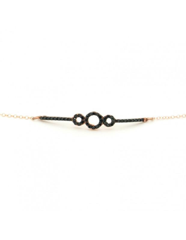 Silver bracelet rose gold plated CIRIS
