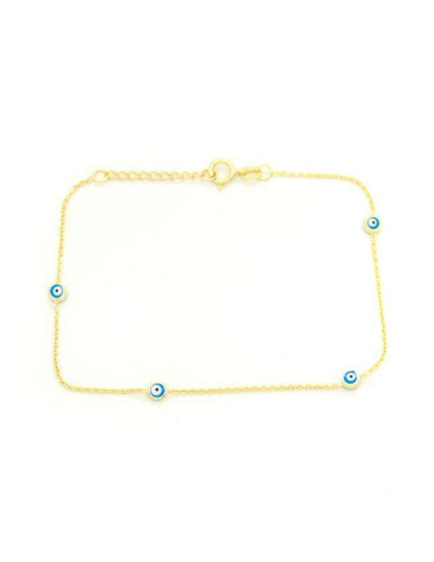 Silver Nazar Bracelet gold plated OPRA A20140681