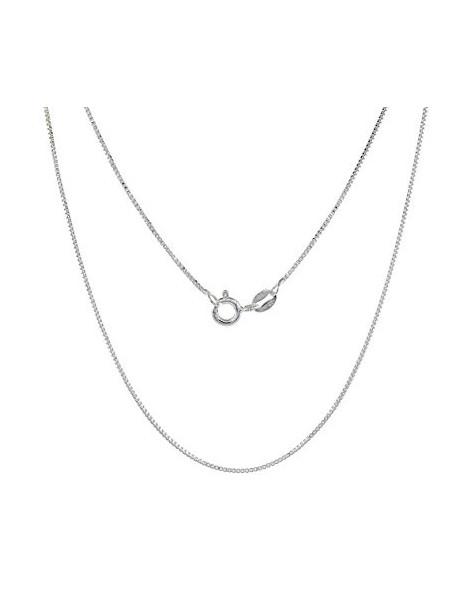 Silver chain 40cm platinum plated VENI