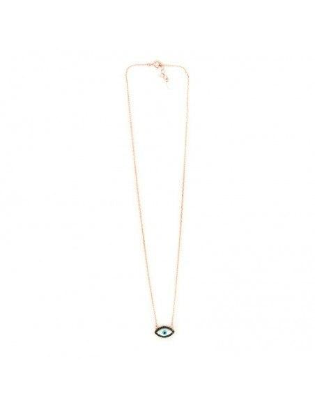 Nazar Necklace silver 925 rose gold PAROS 3