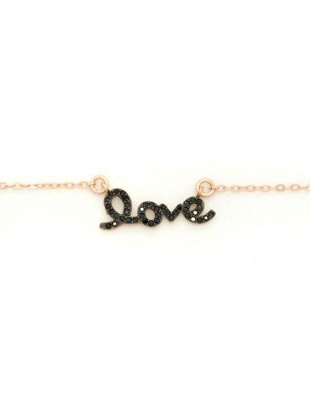Bracelet of silver 925 rose gold plated LOVE