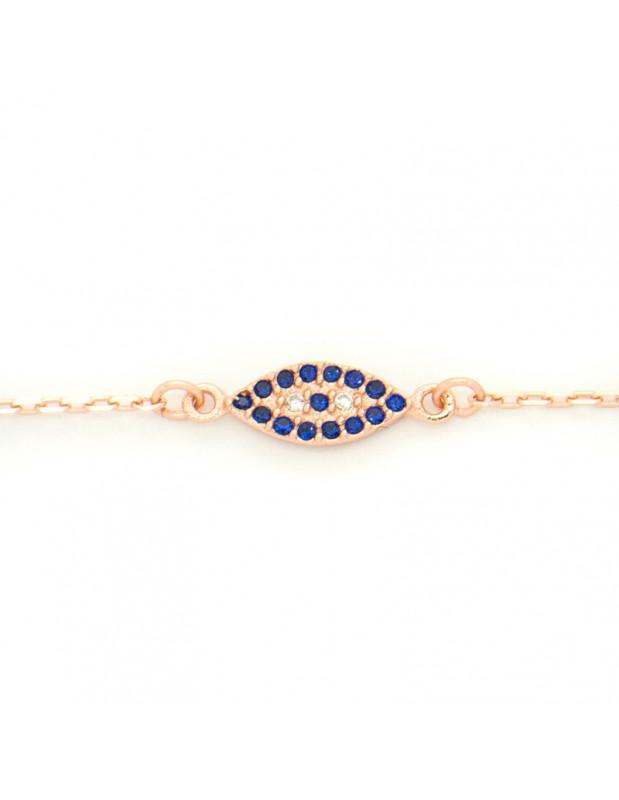 Nazar silver bracelet rose gold plated DAIL