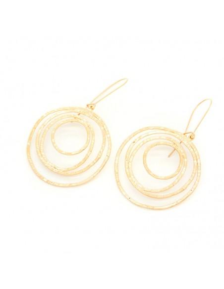 Designer earrings of bronze handmade rose gold HYPNO 3