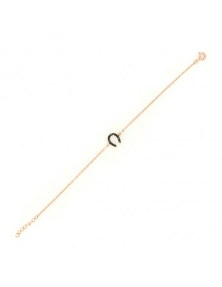 Horseshoe silver bracelet rose gold plated A20140708