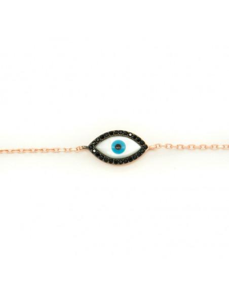 Nazar silver bracelet rose gold plated SORI