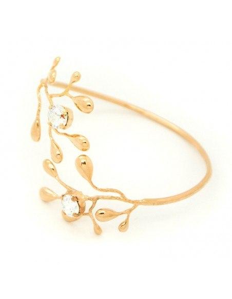 Greek Designer bangle bracelet rose gold REDO 3