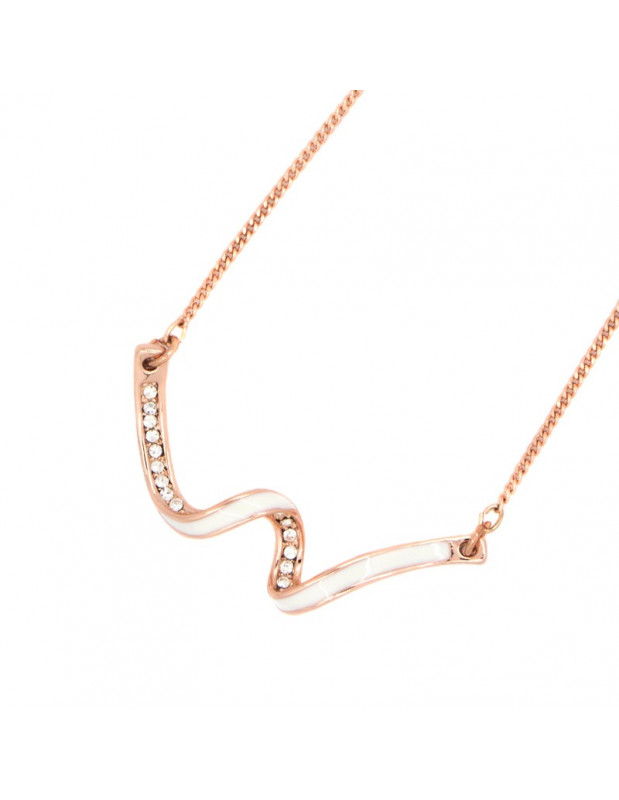 Necklace rose gold WAVE II