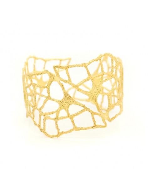 Αρχαιοελληνικό βραχιόλι από επίχρυσο μπρούτζο VERDANDI A20140715