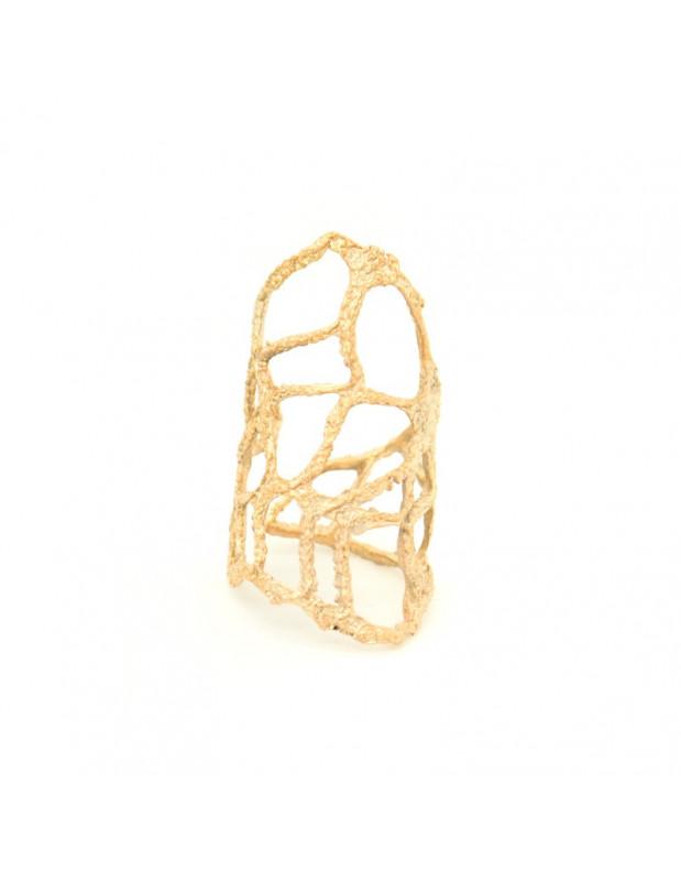 Αρχαιοελληνικό δαχτυλίδι από ροζ χρυσό μπρούτζο VERDANDI R20140693
