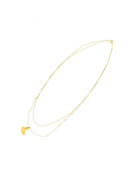 Silver Necklace gold plated PETALOUDA II 2