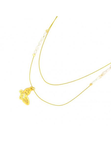 Silver Necklace gold plated PETALOUDA II