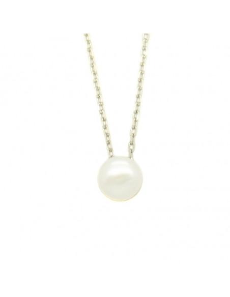 Perlenkette aus 925 Sterling Silber FRANOI