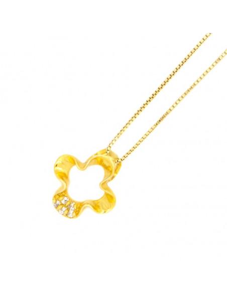 Ασημένιο Κολιέ χρυσό OPAL