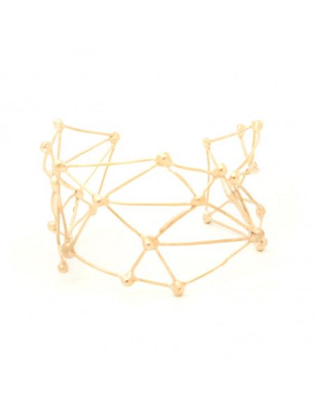 Βραχιόλι αρχαιοελληνικό από ροζ χρυσό μπρούτζο LABY A20140714