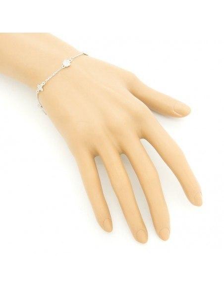 "Bracelet ""CROSSES"" from sterling silver A20140755"