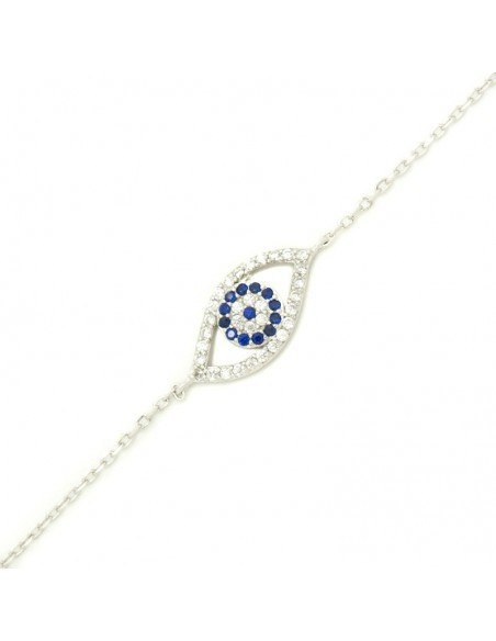 Nazar bracelet from sterling silver SELS