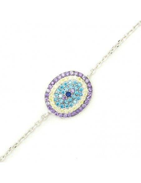 Nazar bracelet from sterling silver WESI