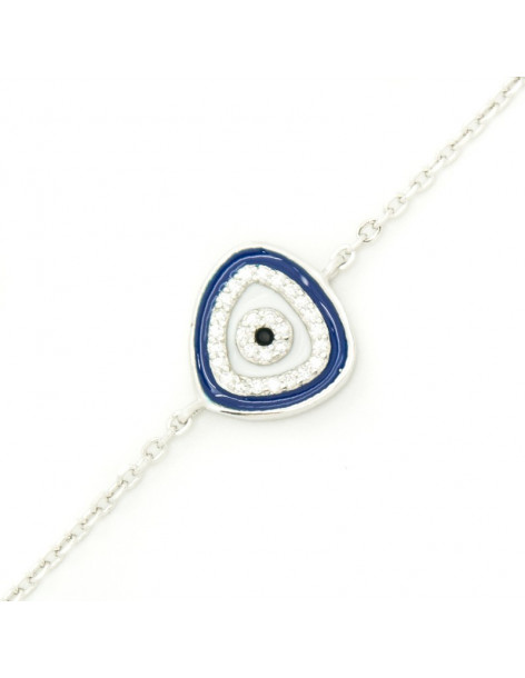 Nazar bracelet from sterling silver BERIO