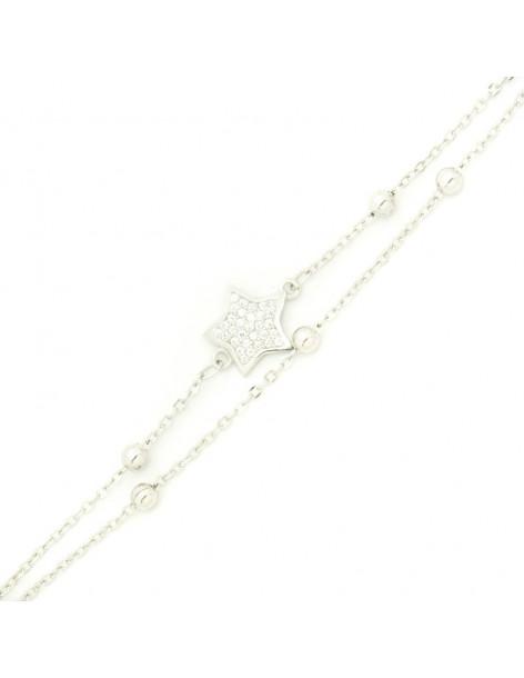 Bracelet of sterling silver STAR