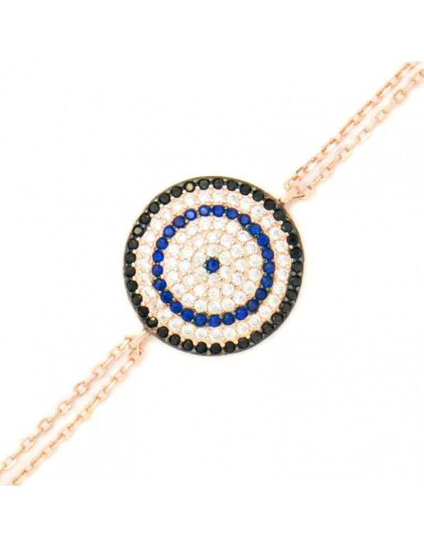 Nazar Armband aus rosévergoldetem Silber 925 TERVI