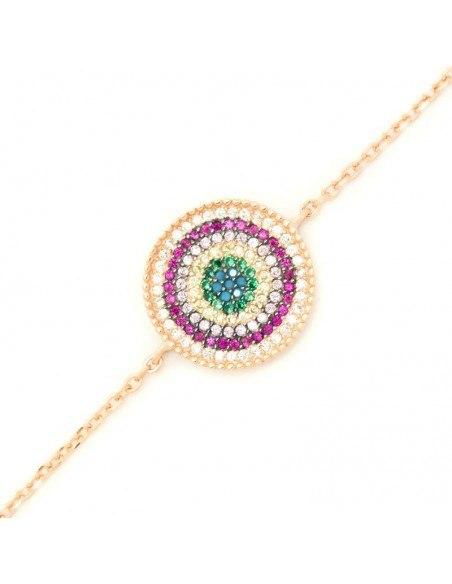 Nazar bracelet of silver 925 rose gold plated A20140791