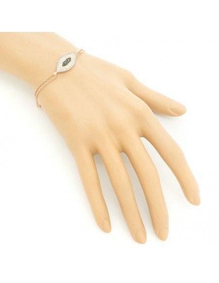Nazar bracelet from rose gold plated silver 925 BOZEN 2