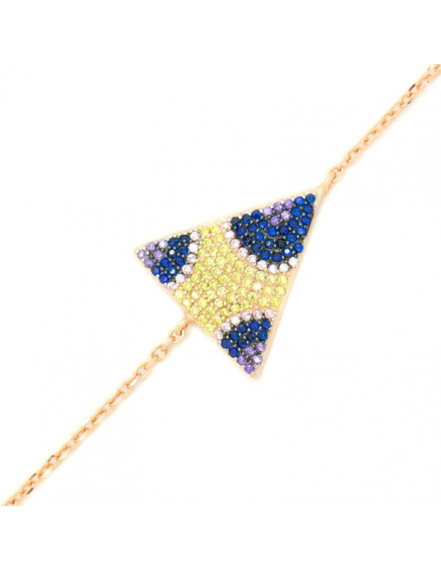 Armband mit dreieckigem Element aus rosévergoldetem Silber 925 A20140796