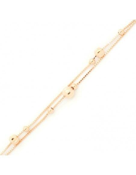"Armband ""DOUBLE"" aus rosévergoldetem Silber 925 A20140799"