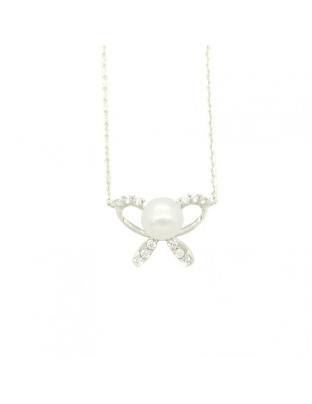 Necklace sterling silver with ZIG pendant H20140833
